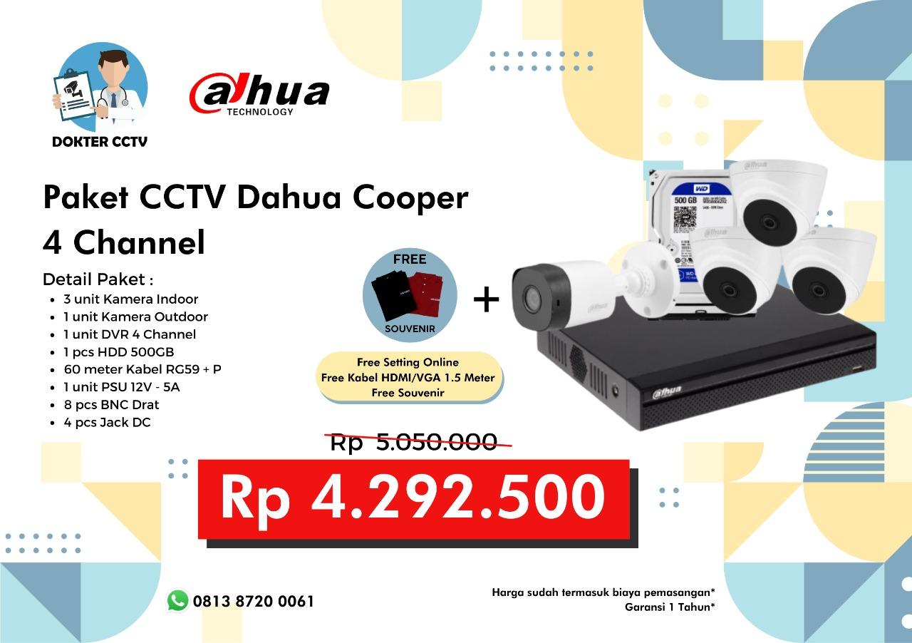 Paket CCTV Dahua Cooper 4 Channel
