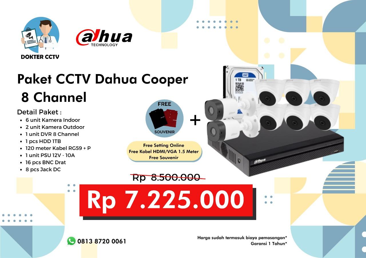 Paket CCTV Dahua Cooper 8 Channel