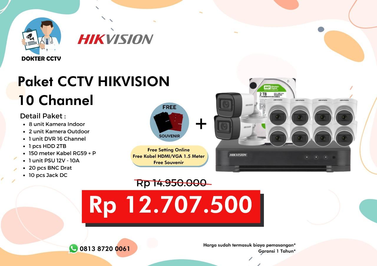 Paket CCTV Hikvision 10 Channel