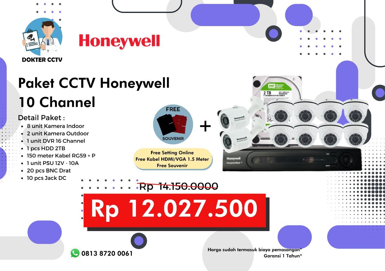 Paket CCTV Honeywell 10 Channel