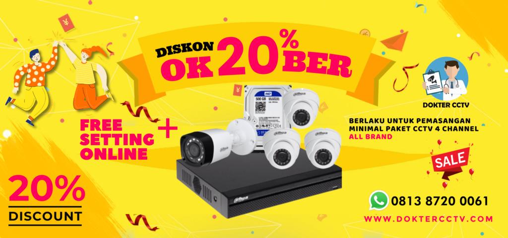 DISKON OK20BER DOKTER CCTV