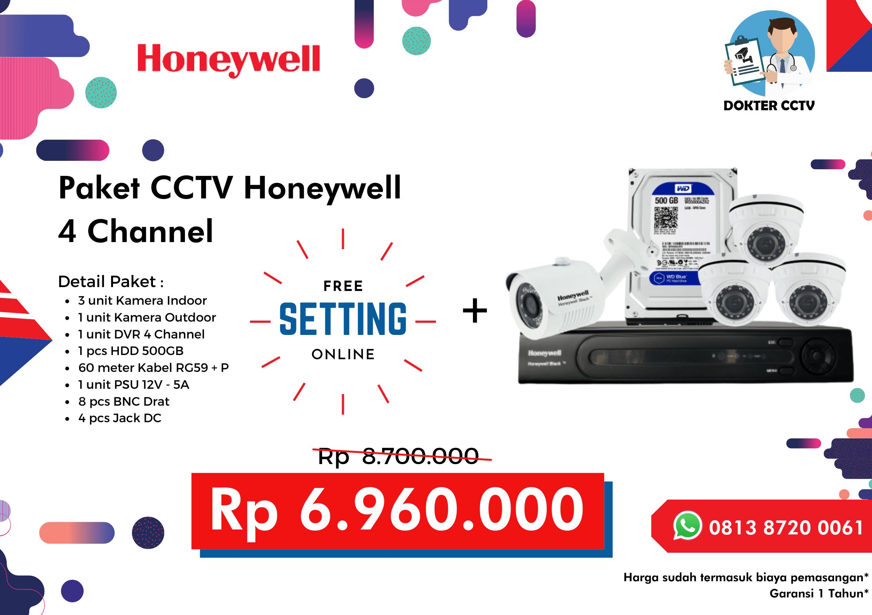 Paket CCTV Honeywell 4 Channel