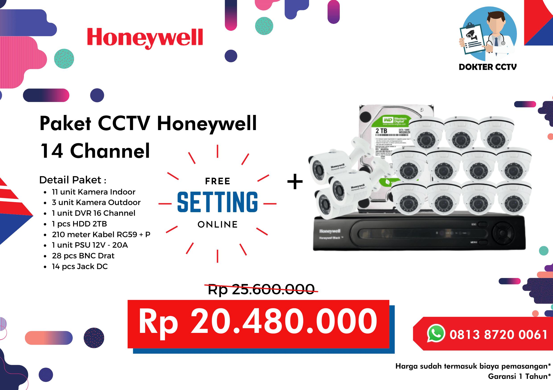 Paket CCTV Honeywell 14 Channel
